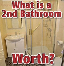 how much is a second bathroom worth real estate
